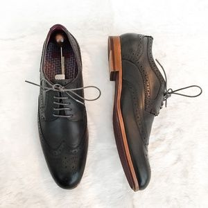 Ted Baker Wing Tip Brogue Oxford Shoes Size 10.5